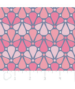 Pastel me More Floral Pink Camelot 100% cotton fabric by the yard - $6.64
