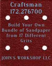 Build Your Own Bundle Craftsman 172.276700 1/4 Sheet No-Slip Sandpaper 17 Grit - $0.99