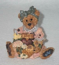 Boyd Bearstone Resin Bears Justina The Message Bearer Figurine #2273 29E... - $8.56