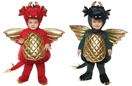 Toddler Dragon Costume Kids Childs Halloween Fancy Dress Red or Green NEW - $49.99