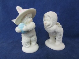 Lot of 2 Snowbabies Easter Egg Bunny and Snowbaby Angel  Dept 56  - $18.81