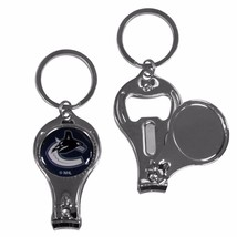 vancouver canucks logo nhl 3 in 1 nail care bottle opener keychain - $18.04