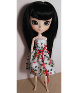 Holly Leaves and Candy Dress Pullip Momoko Jenny Doll Size Handmade by M... - $18.97