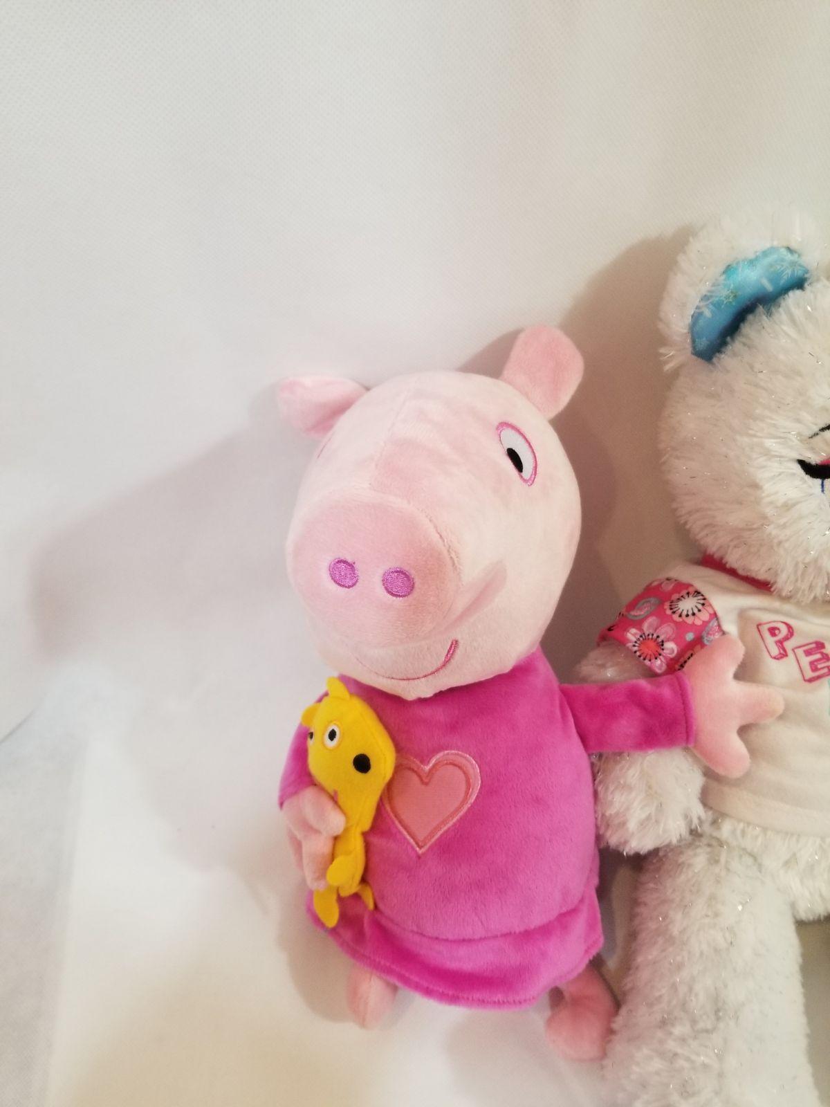 "Peppa Pig Sleep N' Oink 12"" Plush Talking Music Lullaby + Disney Frozen bear toy"