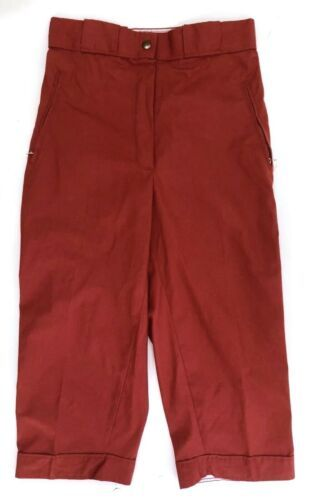 VTG 70s Sunbuster Womens Size 28 Cropped Ski Pants Knickers Brick Red