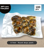 Pearl Oysters 100pcs Round Akoya Pearls Individually Wrapped 6 7 mm Gift... - $458.06