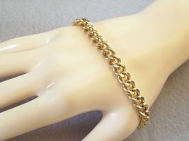 CURB CHAIN Bracelet Link Gold Plated Classic Elegance Vintage Estate Career - $12.86