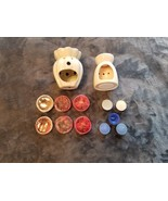 CERAMIC WAX MELT HOLDERS & SCENTED WAX - GOOD CONDITION. - $40.00