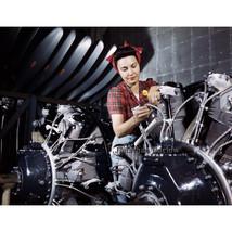 Woman Building Plane Engine World War II B-25 Bomber WWII Kodachrome Pho... - $11.18+