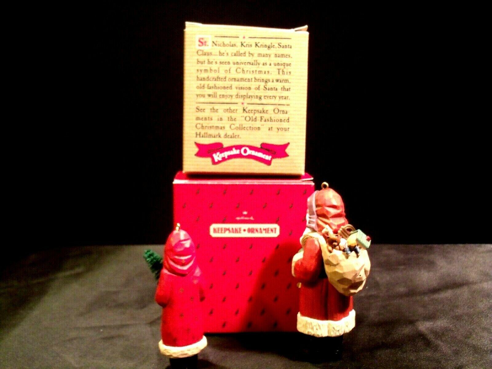 Hallmark Handcrafted Ornaments Old Fashioned Christmas Santa Ornament AA-191783 image 3