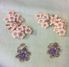 Vintage Clip Earrings-two Pair - $6.79