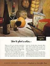 Cheese Wine Gourmet Harris-Seybold Offset Printers 1950 Ad - $14.99