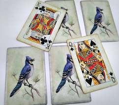 6 Blue Jay Playing Cards for Crafting, Re-purpose, Up-cycle, Vintage Supplies image 3