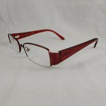 Fendi Eyeglass Frames 894 617 Half Rim Plastic Metal Red Burgundy Sparkl... - $89.96