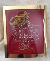 Gorham SPARKLY SNOWFLAKE Full Lead Crystal Christmas Ornament  - $18.99