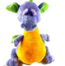 Baby GANZ Purple Silver Soft Dragon Plushie Baby Rattle Toy Stuffed Anim... - $8.49