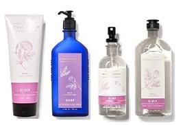 Bath & Body Works Aromatherapy Rose Lavender Set Wash Mist Lotion Cream - $46.99
