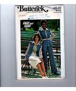 70s Butterick Sewing Pattern 4640 Groovy Pants Vest Skirt Size 20 - $12.38