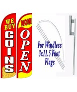 We Buy Coins Now Open Windless Swooper Flag With Complete Kit Pack of 2 - $94.04