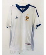 Adidas France FFF Soccer Jersey White Blue Men's Size Small  Authentic L... - $33.25