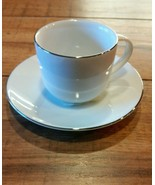 Charter Club GRAND BUFFET Expresso Cup and Saucer in Fine Line Platinum - $9.49