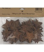 Group of 100 Rusted Metal Stars with Hole for Decorating and Finishing - $11.93