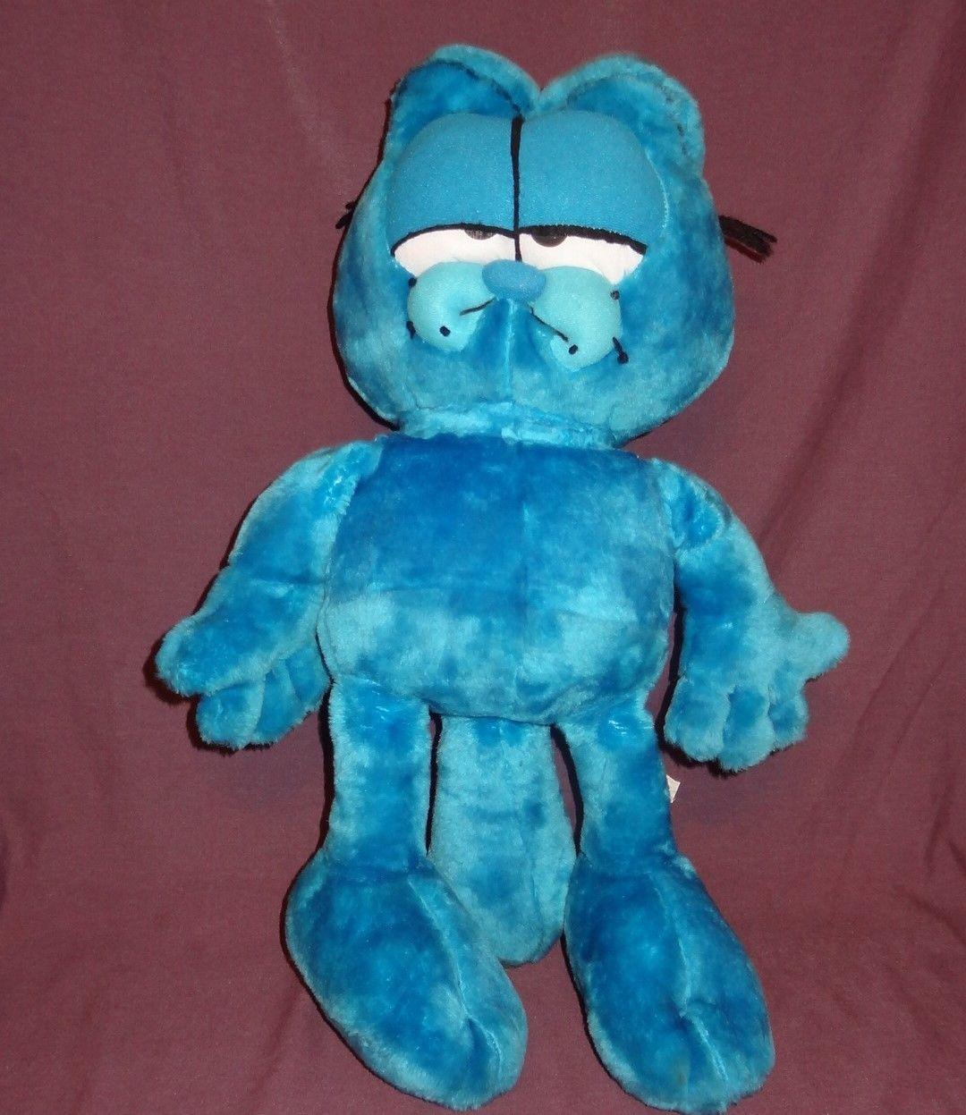 "Garfield Blue Plush Stuffed Animal 22"" Styrofoam Filled"