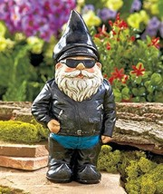 Biker Garden Gnome Statue By Besti - Outdoor Ga... - $19.75