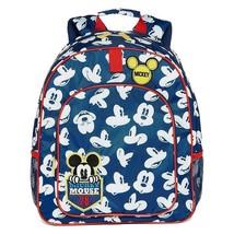 New Boys Disney Mickey Mouse Bookbag Back Pack Blue Red School Bag - $24.52