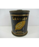 Granger Pipe Tobacco Tin Rough Cut Liggett Myers Pointer Dog w/ Lid Vintage - $14.49