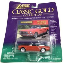 Red 1965 Ford Mustang Johnny Lightning Diecast Car 1:64 Classic Gold Col... - $5.89