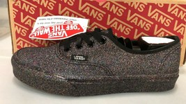 Vans RAINBOW GLITTER Womens Shoes (NEW) Authentic Black SIZES Women 6.5,... - $69.29