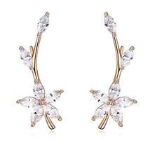EVER SHINE Ear Cuffs Vines Climbers Wrap Pierced Pins Hook Earrings CZ C... - $23.17