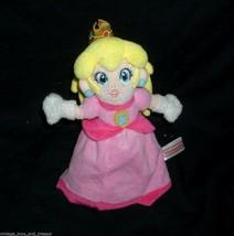 "8"" NINTENDO MARIO PRINCESS DOLL GIRL PINK DRESS STUFFED ANIMAL PLUSH TOY... - $18.70"