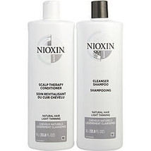 Nioxin By Nioxin System 1 Scalp Therapy Conditioner And Cleanser Shampoo For Nat - $122.00