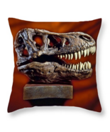 Tyrannosaurus Rex skull, Throw Pillow, fine art, seat cushion, dinosaurs - $41.99 - $69.99