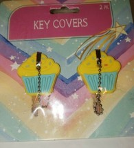 New Cute 2 pack Cupcake key covers Caps for Keychain House Apartment - $7.03