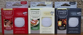 Yankee Candle Charming Scents 3 Pack Cinnamon Christmas Cookie Crisp Fall Night - $11.50