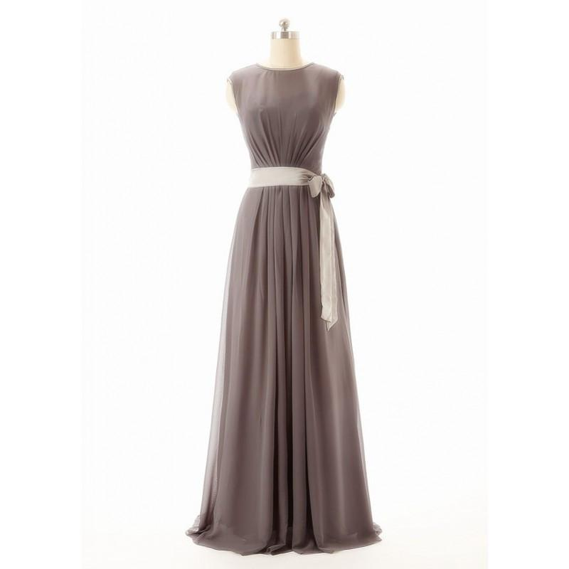Long bridesmaid dress,gray bridesmaid dress,long bridesmaid dresses