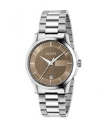 Gucci YA126445 Brown Dial Stainless Steel Strap Gents Watch - £437.16 GBP