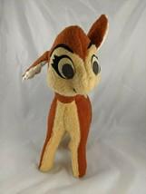 "Vintage Bambi Deer Plush 14"" Walt Disney California Stuffed Toy - $13.45"