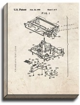 VCR Patent Print Old Look on Canvas - $39.95+
