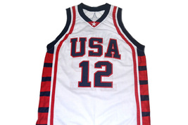 Amare Stoudemire #12 Team USA Basketball Jersey White Any Size image 4