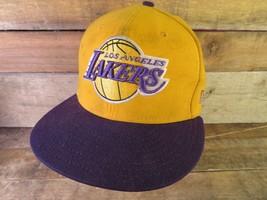 Los Angeles LAKERS Hardwood Classic New Era Dirty Adjustable Hat Adult Cap - $7.43