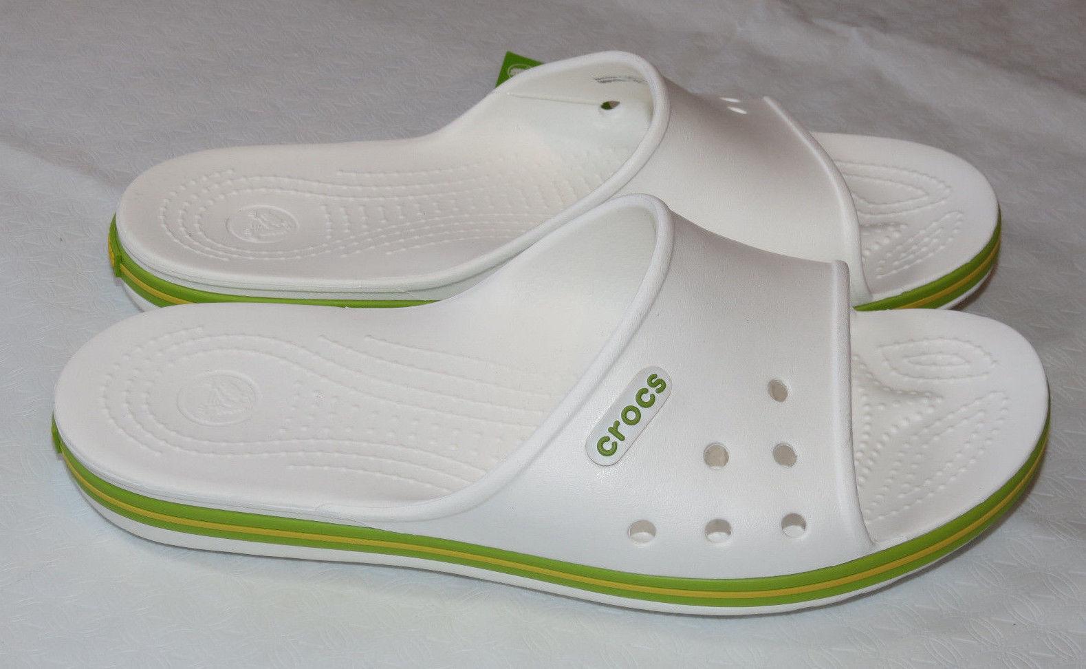 c0937cbb6 Crocs Crocband II Slide White Volt Green and 26 similar items
