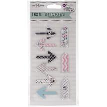 Prima Love, Faith, Scrap Planner Arrow Stickies-9 Pads/20 Sheets Each - $4.16