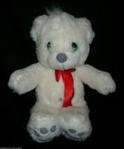 "14"" VINTAGE 1993 PRECIOUS MOMENTS WHITE BABY TEDDY BEAR STUFFED ANIMAL P... - $37.40"