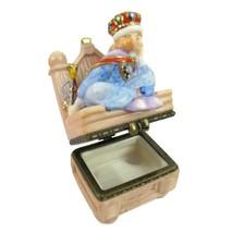 VTG Gold Crown Prince Porcelain Trinket Box Bored Boy King On Throne 199... - $17.77