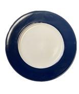 "Royal Norfolk Navy Colbat Blue Rim 4-Salad Dessert Plates  7 1/2""D Stone... - $19.80"