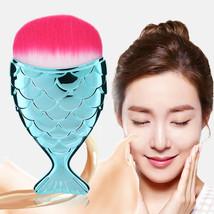 Makeup Powder Brush Fish Design Cosmetics Foundation Apply Cool Color St... - $4.99
